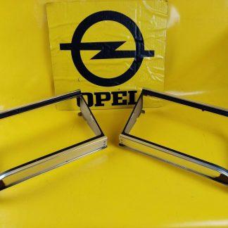 NEU + ORIGINAL Opel Kapitän Admiral B Paar Rahmen Scheinwerfer Blenden