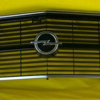 NEU + ORIGINAL Opel Rekord D Coupe Kühlergrill Chrom Emblem