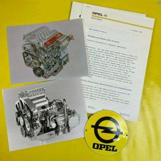 ORIGINAL OPEL Broschüre + Werksfotos, Vorstellung V6 Motor im Vectra A, Sammler