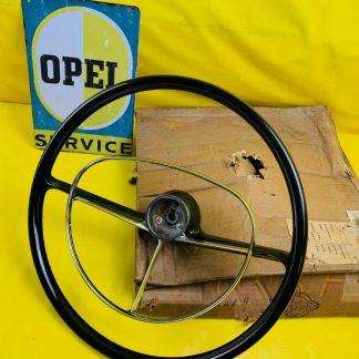 NEU + ORIGINAL OPEL Kadett A Lenkrad incl Chrom Hupenring Steering Wheel NOS