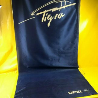 ORIGINAL OPEL Fahne ,, Tigra ,, Werbung Reklame blau weiß Tigra A B RAR SELTEN