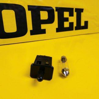 NEU + ORIG Opel GM Kadett E Einbausatz Leuchte Handschuhfach Lampe Einbauleuchte