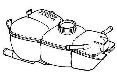 NEU Opel Omega B Ausgleichs Behälter Kühlmittel 1304203 / GM 90500223