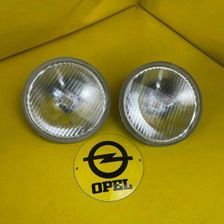 NEU + ORIGINAL Opel Ascona B Manta B Fernscheinwerfer Satz Glas + Reflektor