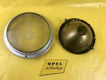 NEU + ORIGINAL Opel Kapitän P 2,6 Scheinwerfer Rahmen / Glas + Reflektor NOS