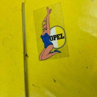 NEU + ORIGINAL Opel Admiral A Zierleiste Heckblech Rückwand Chrom