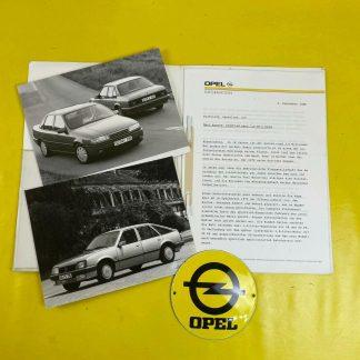 ORIGINAL OPEL Broschüre + Werksfotos Modellabschied Ascona A B C, Vectra A