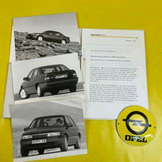 ORIGINAL OPEL Broschüre + Werksfotos Modellvorstellung Omega A Corsa A Kadett E