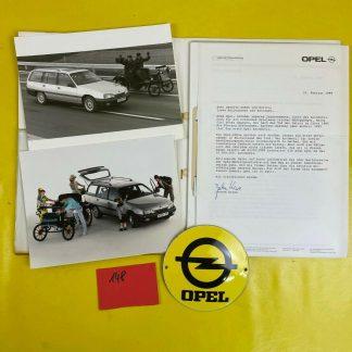 ORIGINAL OPEL Broschüre+Werksfotos Modellgeschichte Omaga A Opel