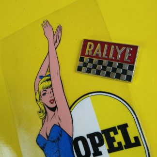 NEU + ORIG Opel Kadett B Coupe F Kiemen Rallye Emblem Handschuhfach Deckel Logo