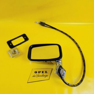NEU + ORIGINAL Opel Rekord D Commodore B Spiegel Außenspiegel Chrom verstellbar