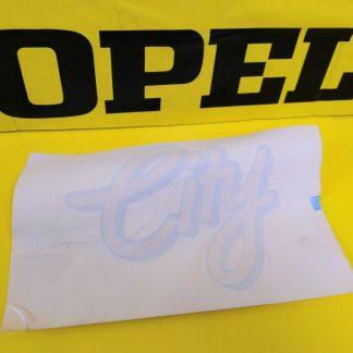 NEU + ORIG GM / Opel Schriftzug Emblem CITY Kadett E Corsa A Aufkleber Tür