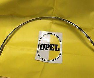NEU + ORIG Zierleiste Radlauf Opel Rekord C Commodore A Kotflügel chrom Halter