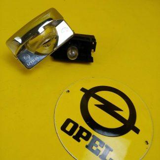 NEU + ORIG Opel Kadett C Coupe Aero Beleuchtung Chrom Nummernschildbeleuchtung