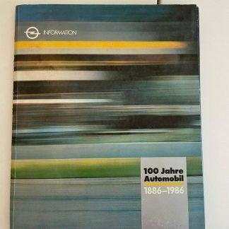 ORIGINAL OPEL Broschüre+Werksfotos, Pressemappe 1986 124 Jahre Opel Geschichte