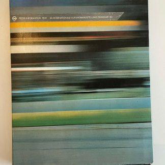 ORIGINAL OPEL Broschüre+Werksfotos, Presseinfo 50 IAA Frankfurt 1983 Corsa Manta