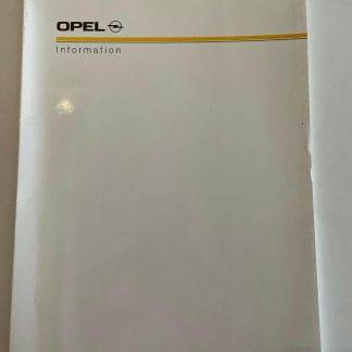 ORIGINAL OPEL Broschüre+ Werksfotos, Modellinformationen 1987-1989 Corsa-Senator