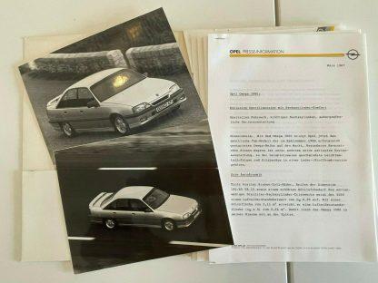 ORIGINAL OPEL Broschüre+ Werksfotos, Omega 3000 Kadett Cabrio 125 Jahre Jubiläum