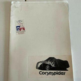 ORIGINAL OPEL Broschüre+ Werksfotos, Corsaspider/ Corsa A Cabrio