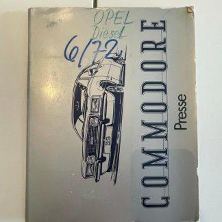 ORIGINAL OPEL Broschüre + Werksfotos, Commodore B Weltrekorde 2,1 L 4 Zylinder
