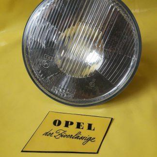 NEU + ORIGINAL Opel Kadett D Scheinwerfer Glas + Reflektor runde Ausführung