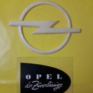 NEU + ORIG Opel Kadett Rekord Manta Ascona Commodore Emblem Zeichen Motorhaube