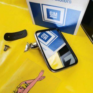 NEU + ORIGINAL Opel Kadett C Limousine Coupe City Aero Außenspiegel Chrom NOS