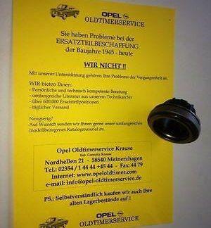Opel Kadett C CiH Ausrücklager Kupplung Getriebe Zentral Ausrücker Lager NEU