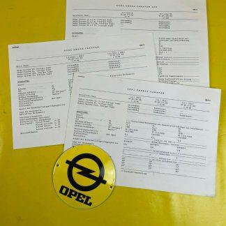 ORIGINAL OPEL Omega A + Kadett E Kombi Broschüre + Werksfotos inkl. Preislisten