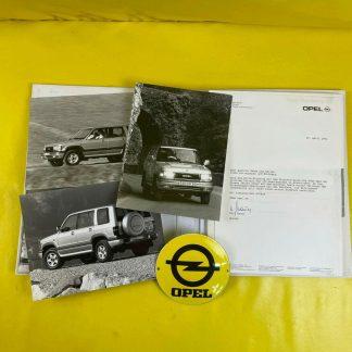 ORIGINAL OPEL Monterey Geländewagen, Broschüre + Werksfotos Modellvorstellung