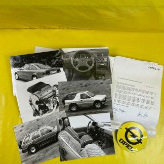 ORIGINAL OPEL Presseunterlagen IAA 1991+ Werksfotos Corsa GSi Vectra A Frontera