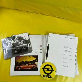 ORIGINAL OPEL Modellvorstellung Corsa B ,Broschüre + Werksfotos, Info Diskette