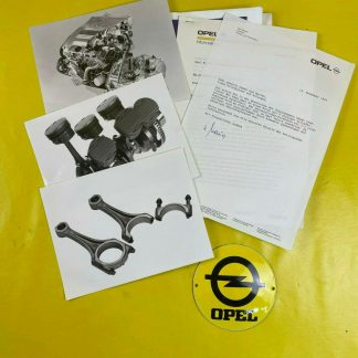 ORIGINAL OPEL V6 Motor 2,5 L,Broschüre + Werksfotos, Vectra A, Calibra, Omega B
