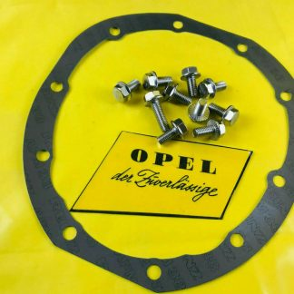 NEU + ORIG Opel Dichtung Hinterachsdeckel für alle CiH inkl. Schrauben Edelstahl