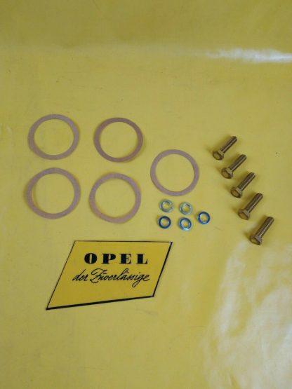 NEU Opel Dichtung unter Zündverteiler + Schrauben f. Halter Zündverteiler CiH