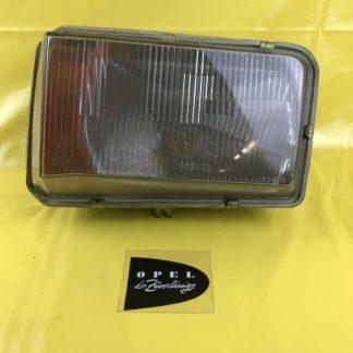 NEU + ORIGINAL Opel Rekord D Bilux Scheinwerfer Gehäuse Glas Reflektor rechts