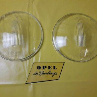 NEU + ORIGINAL Opel Olympia Rekord 1956 1957 Paar Streuscheibe Scheinwerfer Glas