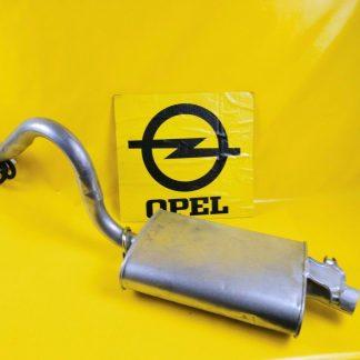 NEU Opel Commodore C Auspuffmitteltopf Limousine 2,5 Schellen Gummis Auspuff
