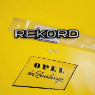 NEU + ORIG Opel Rekord D Emblem Kofferdeckel Halter Schriftzug incl. Befestigung