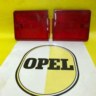 NEU + ORIGINAL OPEL Kadett B 1.Serie SATZ Rücklicht Bremslicht Glas NOS Gläser