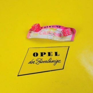NEU / NOS UNIVERSAL Oldtimer Nummerschild Schrauben Würfel Rosa Dice Style