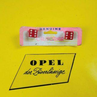 NEU / NOS UNIVERSAL Oldtimer Nummerschild Schrauben Würfel Rot Dice Style