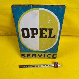 NEU + ORIGINAL Opel Commodora A GS Emblem Chrom Handschuhfach