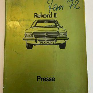 ORIGINAL OPEL Broschüre + Werksfotos Rekord D Limousine Coupe Caravan Innenraum