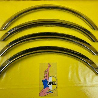 NEU Opel Monza A Satz Radlauf Zierblenden Chrom Edelstahl Blende