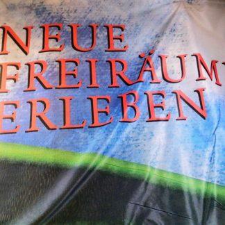 ORIGINAL OPEL Fahne '' Neue Freiräume erleben '' Reklame Werbung RAR SELTEN