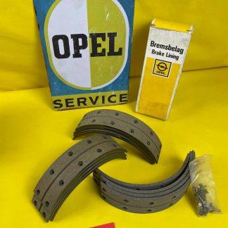 NEU + ORIGINAL Opel Rekord C Commodore A GT 1,9 Bremsbeläge Hinterachse