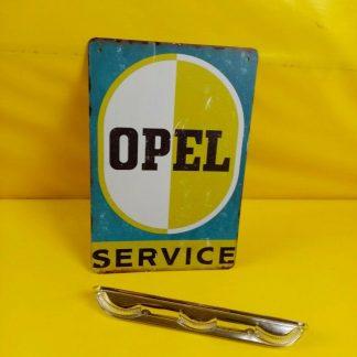 NEU + ORIGINAL Opel Kadett A / B Glas Nummernschildbeleuchtung Chrom