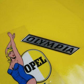NEU + ORIG Opel Kadett B Olympia A Emblem Kotflügel Kofferdeckel Schriftzug Logo
