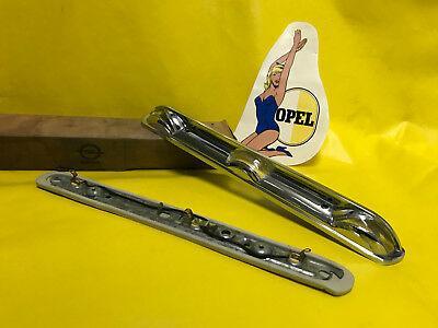 NEU + ORIGINAL Opel Kadett B Rekord A + B Nummernschildbeleuchtung CHROM MASSIV